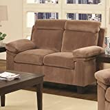 Coaster Home Furnishings 503715 Casual Loveseat, Chocolate Review