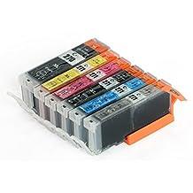 6x Imprimieux Cartouche d'Encre PGI-270XL CLI-271XL Compatible Pour Canon Pixma MG5720 MG5722 MG6820 MG7720