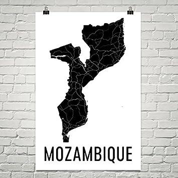 Mosambik Karte.Modern Map Art Mosambik Karte Karte Von Mosambik Mosambik Kunst 12