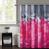 Christian Siriano Botanical Ombre Shower Curtain, 72'' x 72'', Magenta/Grey