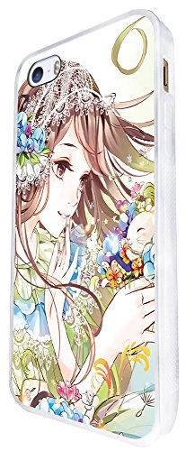 1037 - Cool Fun Cute Sexy Manga Art Cartoon Kawaii School Girls Japanese (4) Design iphone SE - 2016 Coque Fashion Trend Case Coque Protection Cover plastique et métal - Blanc