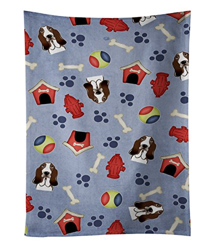 Caroline's Treasures BB4022KTWL Dog House Collection Basset Hound Kitchen Towel, 25