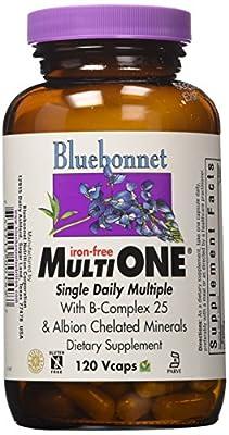 Bluebonnet - Multi One Iron Free - 120 VegCap Kosher,Gluten-Free by BlueBonnet
