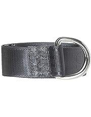 Jack & Jones Leon Ring Woven Belt For Men, Grey - 95 cm