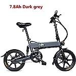 51vvwjiwIYL. SS150 Bicicletta elettrica Pieghevole in Alluminio, Bici elettrica da 16 Pollici per Bici elettrica per Adulti con Batteria al…