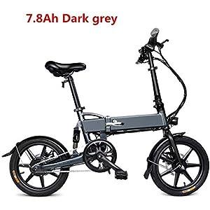 51vvwjiwIYL. SS300 Bicicletta elettrica Pieghevole in Alluminio, Bici elettrica da 16 Pollici per Bici elettrica per Adulti con Batteria al…