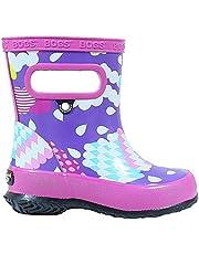 BOGS Kid's Skipper Waterproof Rubber Boys and Girls Rain Boot