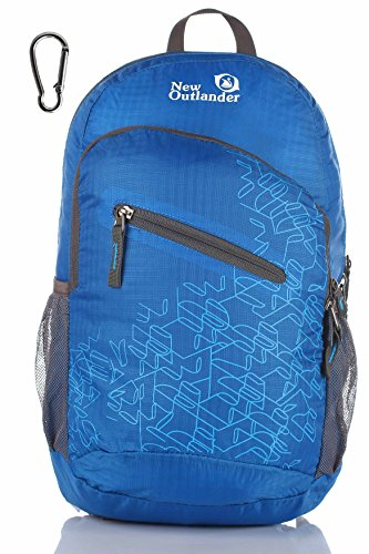 Outlander Packable Handy Lightweight Travel Hiking Backpack Daypack-Dark Blue