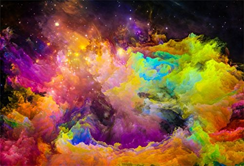 CSFOTO 5x3ft Background for Abstract Starry Fantasy Nebula Photography Backdrop Universe Space Galaxy Explore Unknow World Mystery Astronomy Children Adult Photo Studio Props Polyester (Science World Halloween Photos)