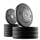 Cheap XMark HI-IMPACT 160 lb. Olympic Bumper Plate Weight Set, Virtually Indestructible Bumper Plates, Superb Craftsmanship, Weightlifting, Strength Training, Powerlifting, Conditioning