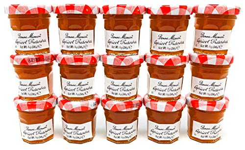 Bonne Maman Mini Apricot Jam, Kosher - 1 oz x 15 pcs