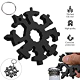 20 In 1 Snowflake Multi-Tool, Incredible Tool, Easy N Genius, Outdoor Travel Camping Multi-Function EDC Key Ring, Stainless Steel Snow Multi-Tool/Screwdriver Tactical Tool,Christmas Gift