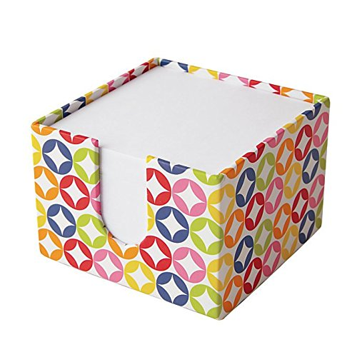 Foray Memo Note Cube w/ 600 Loose Sheets of 3..5 x 3.5 inches Note Paper (Multi-Color Square)