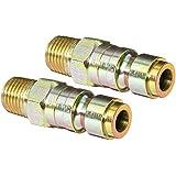 "Milton S-1809 1/4"" MNPT P Style Plug - Pack of 2"