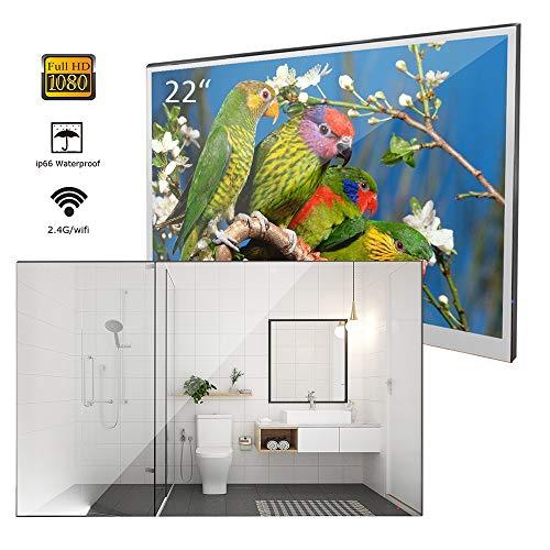 Soulaca 22 inches Bathroom Magic Mirror LED TV Android 7.1 IP66 Waterproof - Bathroom Mirrors Wifi