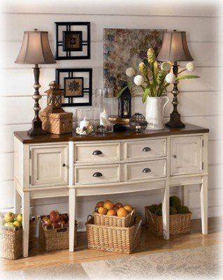 Signature Design By Ashley D583 60 Whitesburg Collection Dining Room Server,  Brown/Cottage