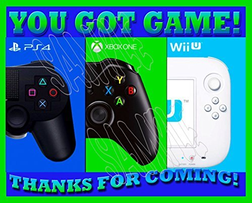YOU GOT GAME Video Game Truck Party Favors Supplies Decorations Gift Bag Label STICKERS ONLY 3.75