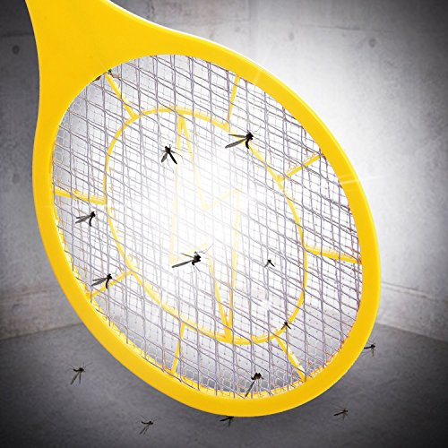 Bug zapper- Electric Fly Swatter ,handheld Insect Fly Killer, Mosquito Zapper against Flies,Bugs,Bees and Other Pest,Unique 3-Layer Safety Mesh Safe to Touch for Indoor and Outdoor Pest Control by Henscoqi (Image #4)'