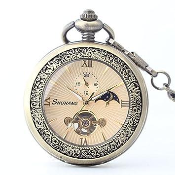Y & M mecánico reloj de bolsillo/bronce para hacer el viejo Flip reloj de
