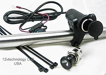 51vvz4kdE1L._SX355_ amazon com cigarette lighter motorcycle bike 12 volt 12v socket  at edmiracle.co
