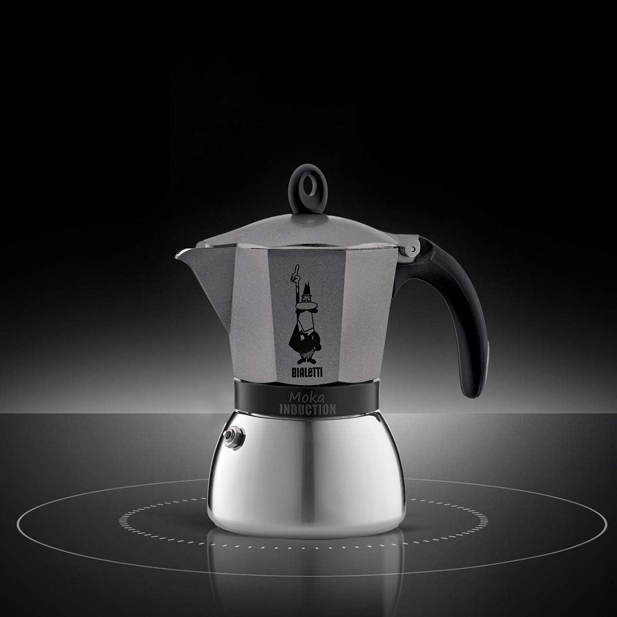 Bialetti Moka Induction Cafeter Italiana Espresso por Inducción, Aluminio, Gris Antracita, 6 Tazas: Amazon.es: Hogar