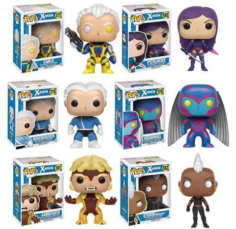 [Pop!: Classic X-Men Cable, Storm, Psylocke, Sabretooth, Quicksilver and Archangel! Set of 6] (X Men Storm Cape)