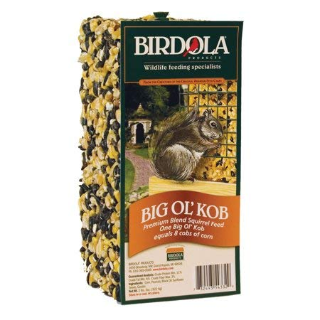 PACK OF 8 - Birdola Big Ol' Kob Squirrel Feed by Birdola