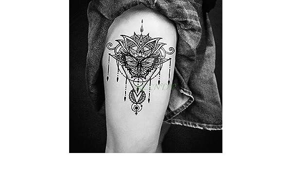 Handaxian 3 Piezas Etiqueta de Tatuaje a Prueba de Agua Luna Sol ...