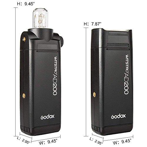 GODOX AD200 TTL 2.4G HSS 1/8000s 2Pcs Pocket Flash Light Double Head 200Ws with 2900mAh Lithium Battery+GODOX XPro-O TTL Flash Trigger Compatible for Olympus Cameras by Godox (Image #5)