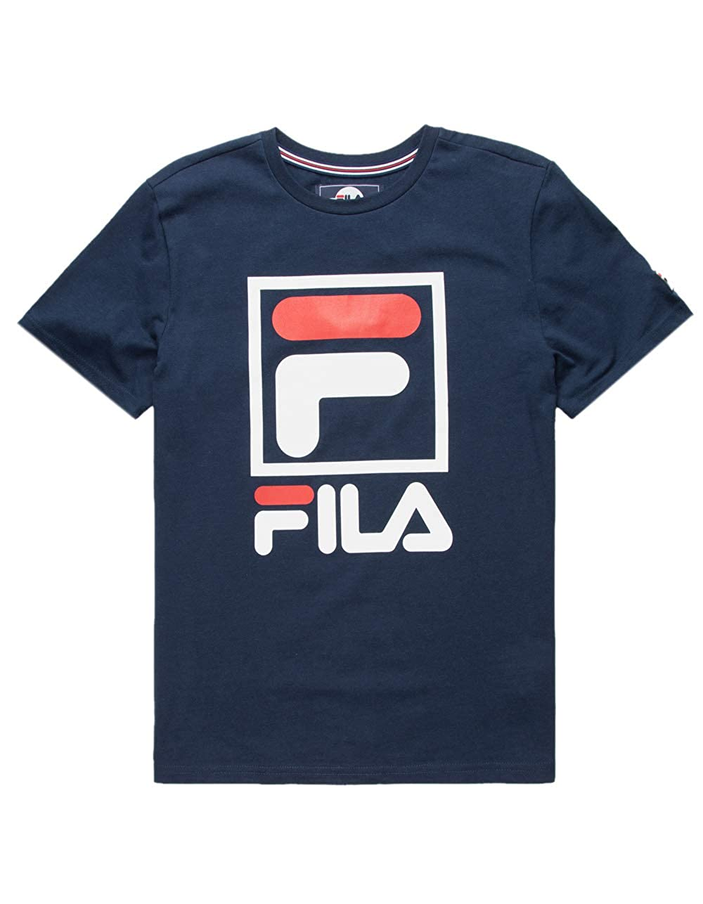 6d48f2f06bb5 Amazon.com  Fila Stacked Logo Navy Boys T-Shirt