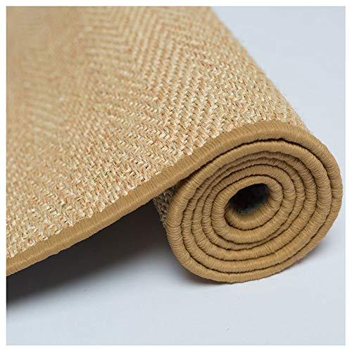 LAAN Straw Sisal Steamed Jute Flax Linen Mat Cat Scratch Pad Sleeping Mat Rug (Size : 100150cm)