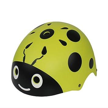 Amazon.es: LXLX Casco infantil Casco de mariquita Patinaje sobre ruedas Casco de bicicleta para niño (Color : Amarillo)