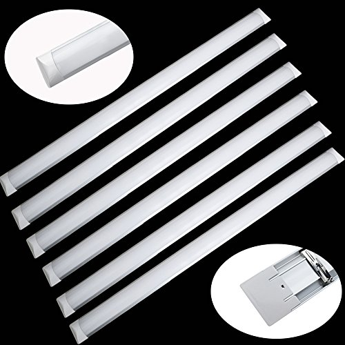 6er Pack 1200mm (4ft) 36W LED Batten with 3000 lm, 160¡ã, 6000K, Ceiling and Wall Surface Mount Linear Lights