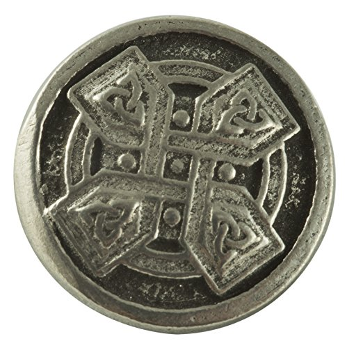 Celtic Cross Buttons - Pewter - 7/8