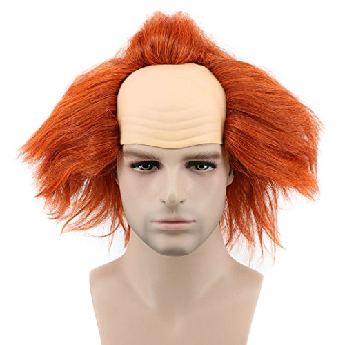 Karlery Short Bob Fluffy Orange Curly Clown Wig