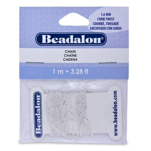 Beadalon Twist Chain 3 28 Feet Silver