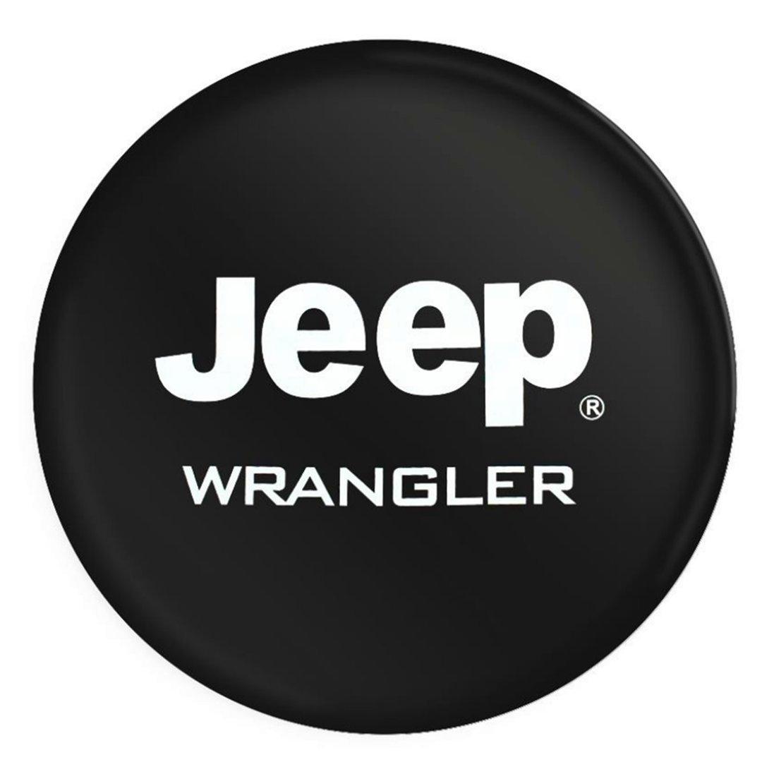 Sanlitock PVC Jeep RV Wrangler Cubierta del neumá tico de rueda de repuesto para Jeep R17 con Logo 17inch (80-83cm)