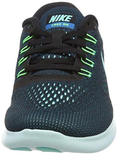 Nike Free Rn Kvinders Livsstil Løbesko Str Os 6 M Sort / Hyper Turkis Grøn Afgrund Volt sIf98hn8