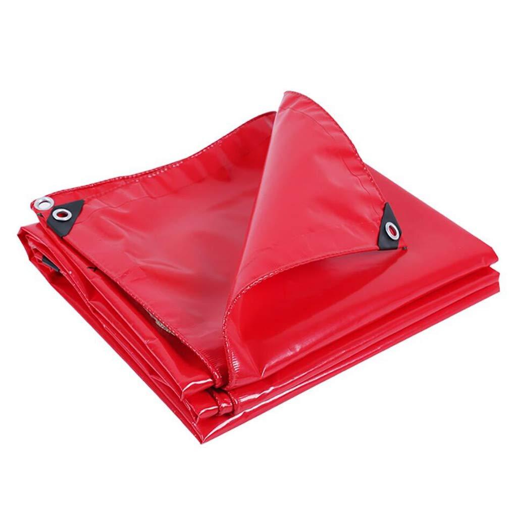 BU Plane Plane-Markise, LKW-Camping-Zelt-Regen-Plane 500g / M2, Rotes Starkes Doppelseitiges Wasserdichtes, Perforiert (größe : 3M×5M)