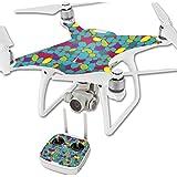 MightySkins Protective Vinyl Skin Decal for DJI Phantom 4 Quadcopter Drone wrap cover sticker skins Bright Stones