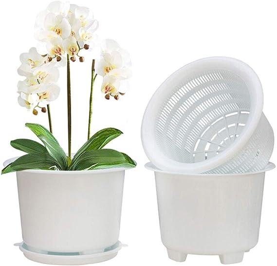 Nero Hobby Flower Adel 20 x 20 cm Piatto Tondo per Orchidee e irrigazione