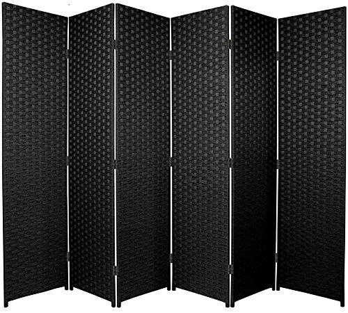 BlueBoxInnovations ENTWINE SQ Black Colour Handmade 6 Pane panel Room Divider/Splitter Screens