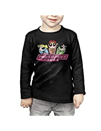 Toddler's The Powerpuff Girls Long Sleeve T Shirts Black