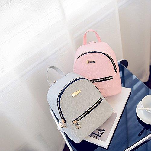 Donne Di Delle 10cm Bianco Ragazze Pelle 18 Espeedy Scolastica In Mini Borsa Bag 19 Gita Donna Signore Collegio Casual Zaino Da Pu Tracolla rr1f40wq
