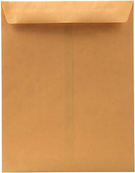 JAM PAPER 10 x 13 Booklet Envelopes White Bulk 1000//Carton