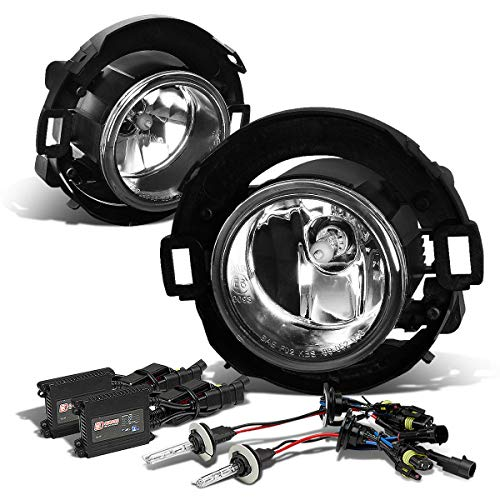 For Nissan Xterra/Frontier D40 / N50 Pair of Clear Lens Bumper Driving Fog Lights + 8000K HID + Slim Ballasts