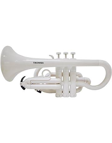 Tromba Pro Professional Plastic Bb Cornet-White