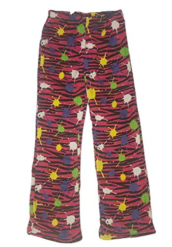 - Confetti and Friends Fuzzy Plush Pants - Splash Zebra (Fuchsia) - 14/16