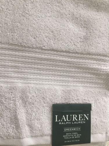 Lauren Ralph Lauren Greenwich Bath Towel Spa Grey