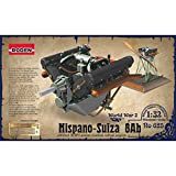 HISPANO SUIZA 8AB PLANE ENGINE WITH BASE AND PE SET WWI 1/32 RODEN 625